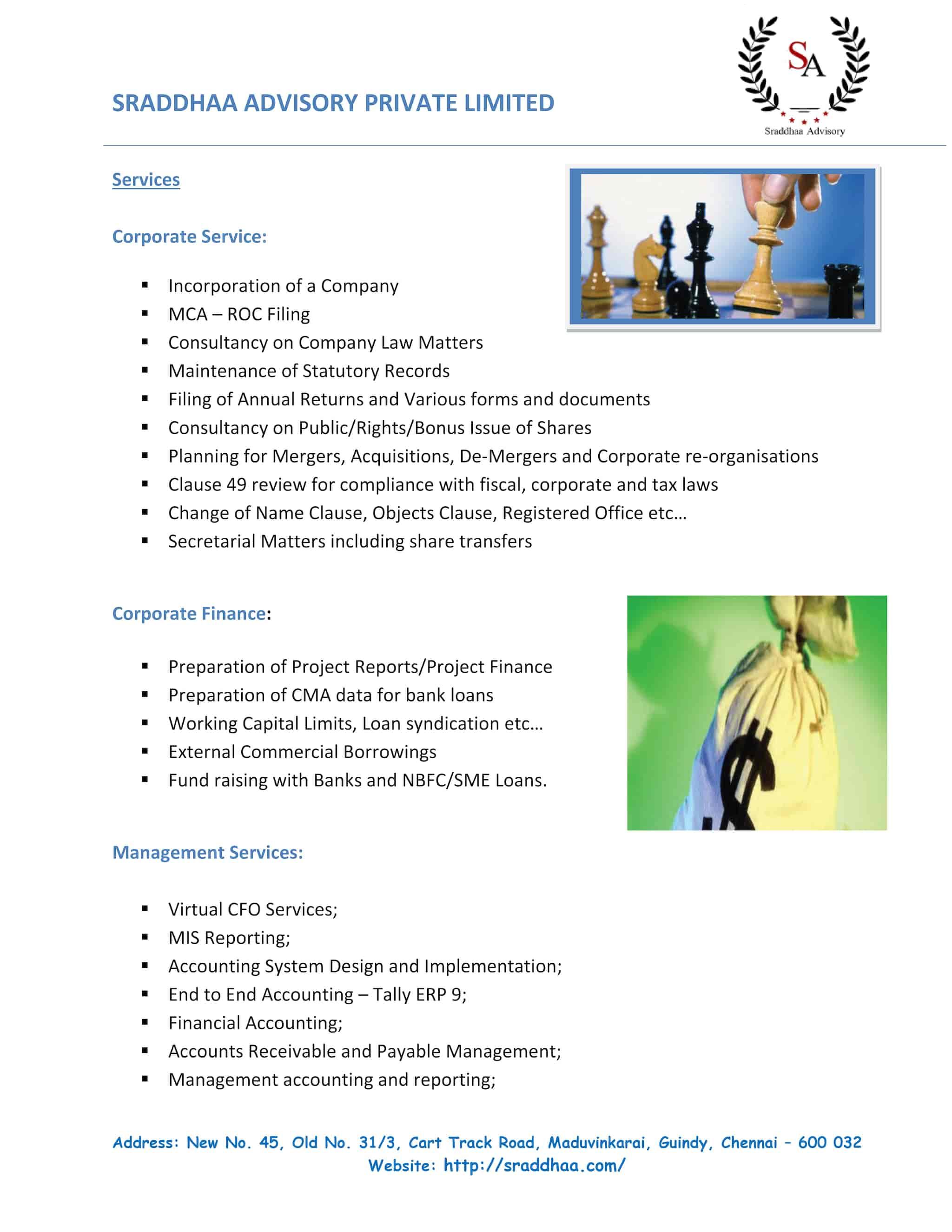 Sraddhaa Advisory Pvt Ltd, Guindy - Auditors in Chennai
