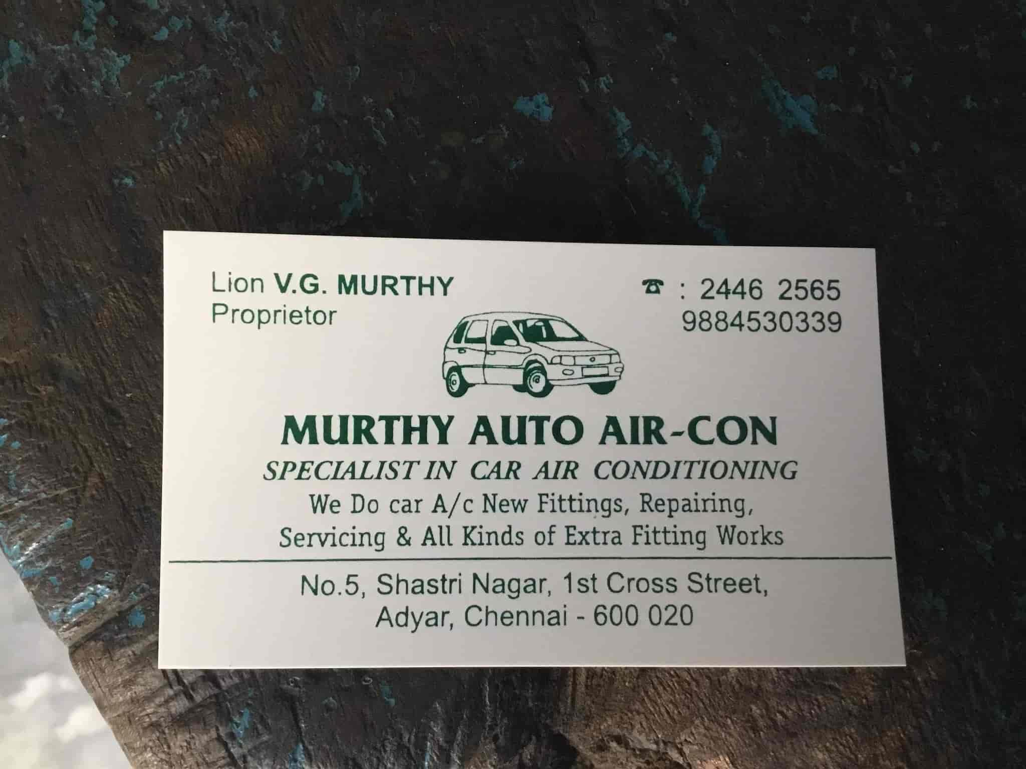 Murthy Auto Air Con, Adyar - Car Repair & Services in Chennai - Justdial