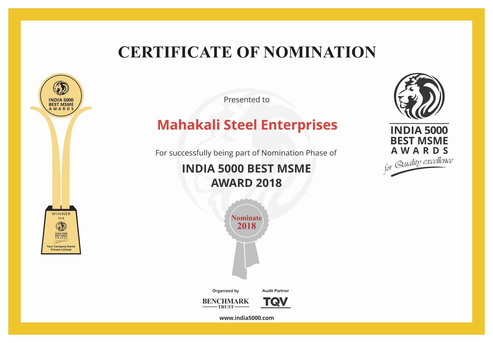 Mahakali Steel Enterprises, Parrys - Steel Dealers in