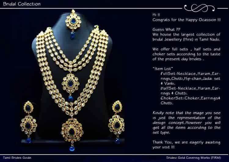Sridevi Gold Covering Works Firm T Nagar Imitation Jewellery
