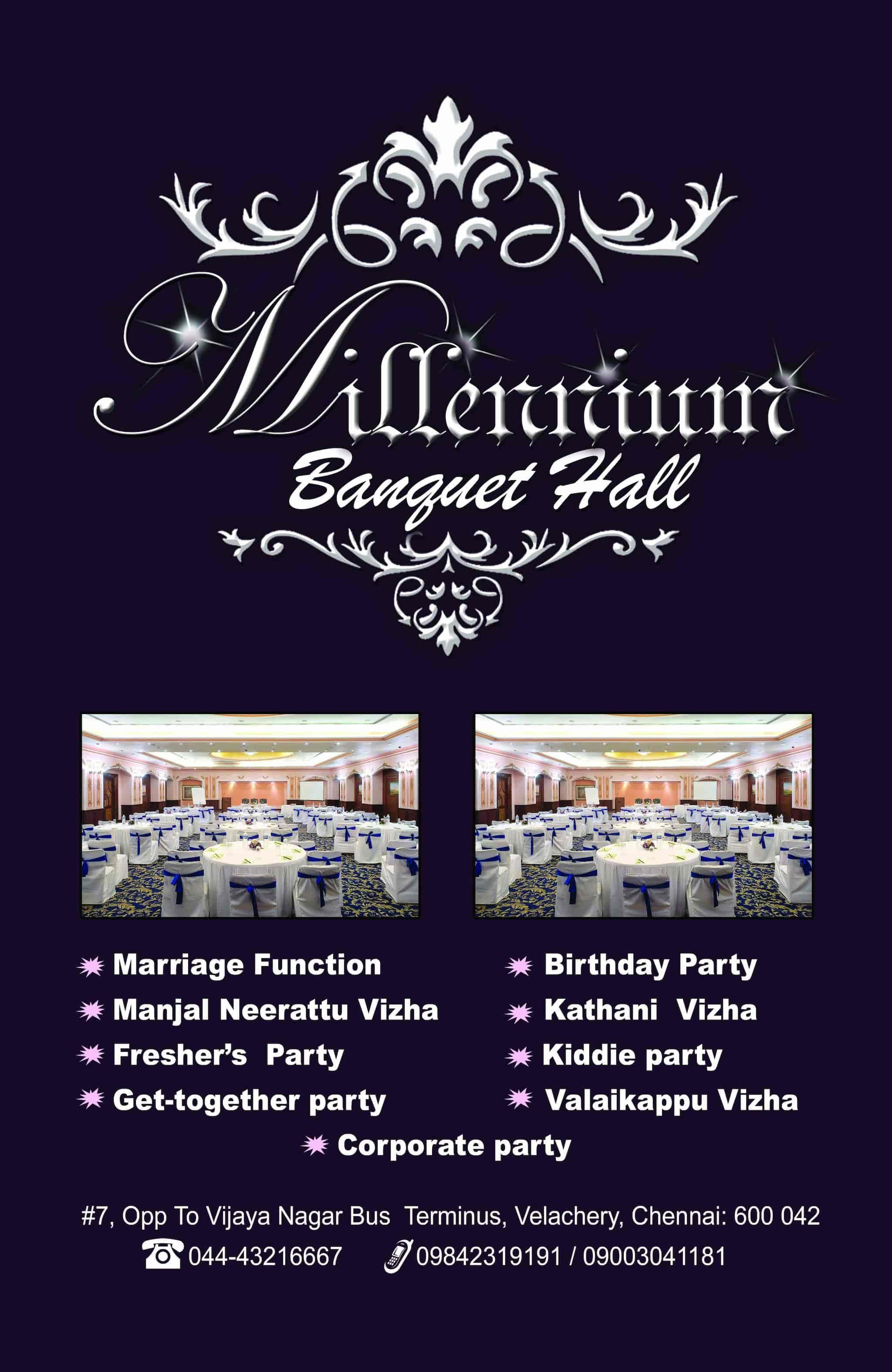 millennium banquet hall closed down in velacheri chennai justdial
