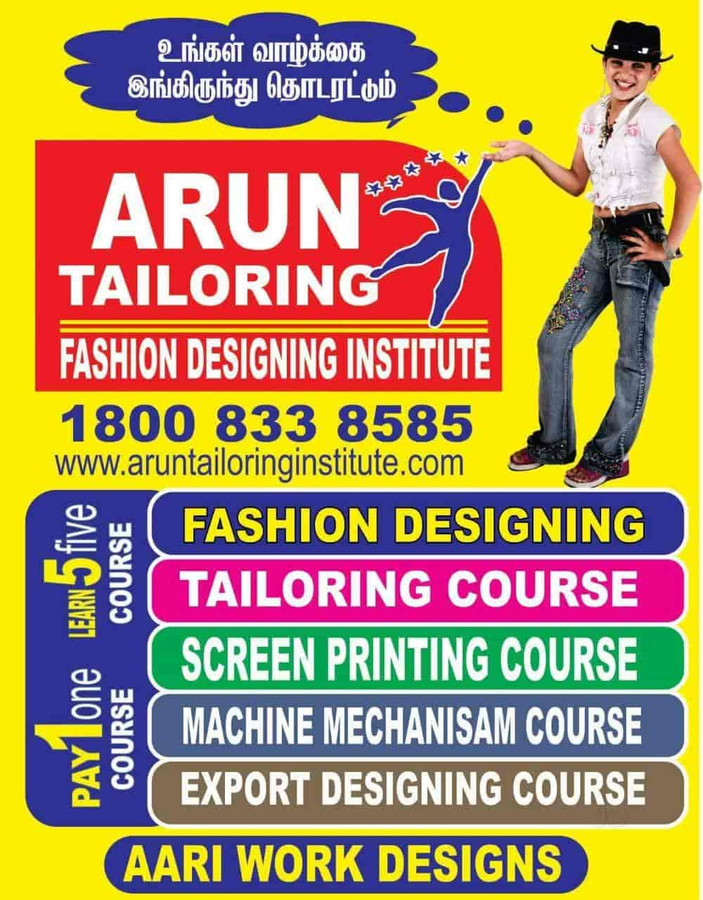 Arun Tailoring And Fashion Designing Institute Adyar Tailoring Classes In Chennai Justdial