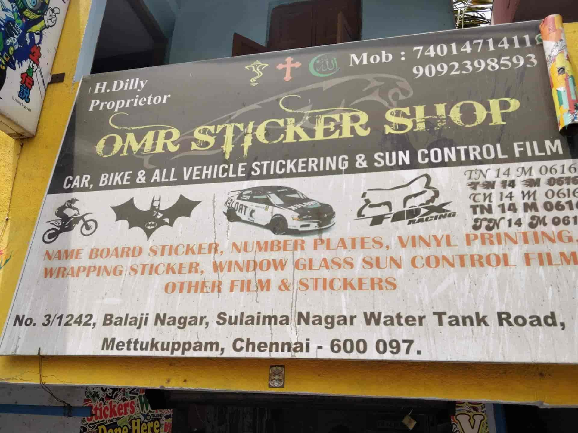 Omr sticker shop mettukuppam okkiyam thoraipakkam sun control