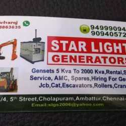 Star Light Generators, Thirumullaivoyal - Generators On Hire