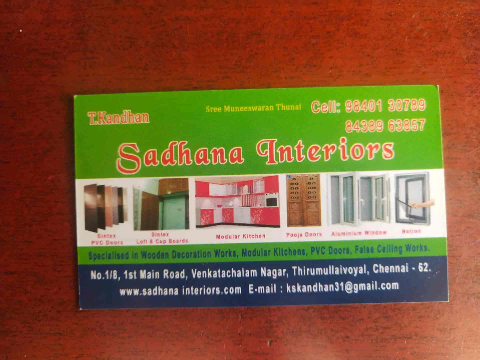 Sadhana Interiors Thirumullaivoyal False Ceiling Contractors In Chennai Justdial