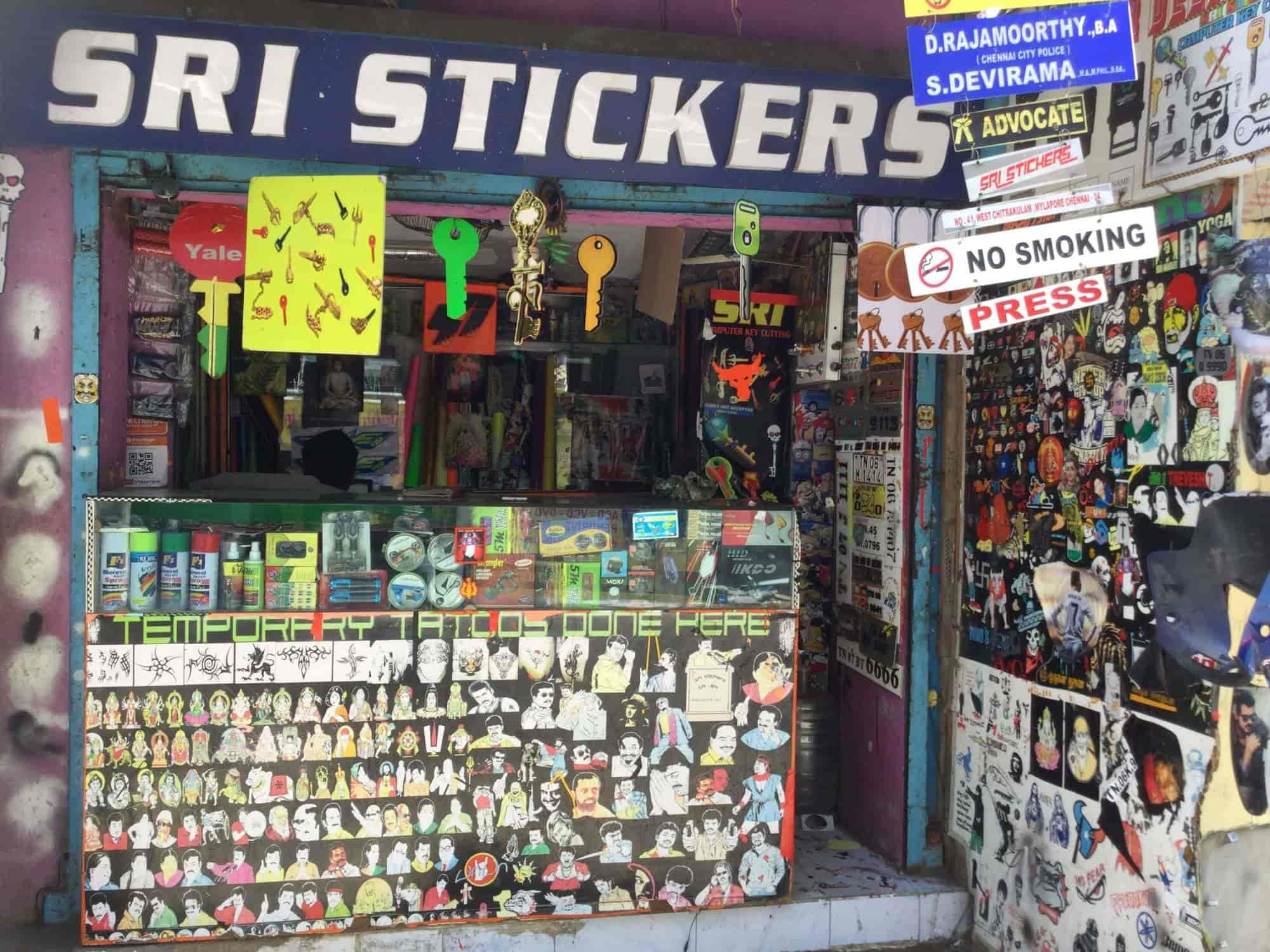 Sri stickers shop mylapore printed sticker manufacturers in chennai justdial