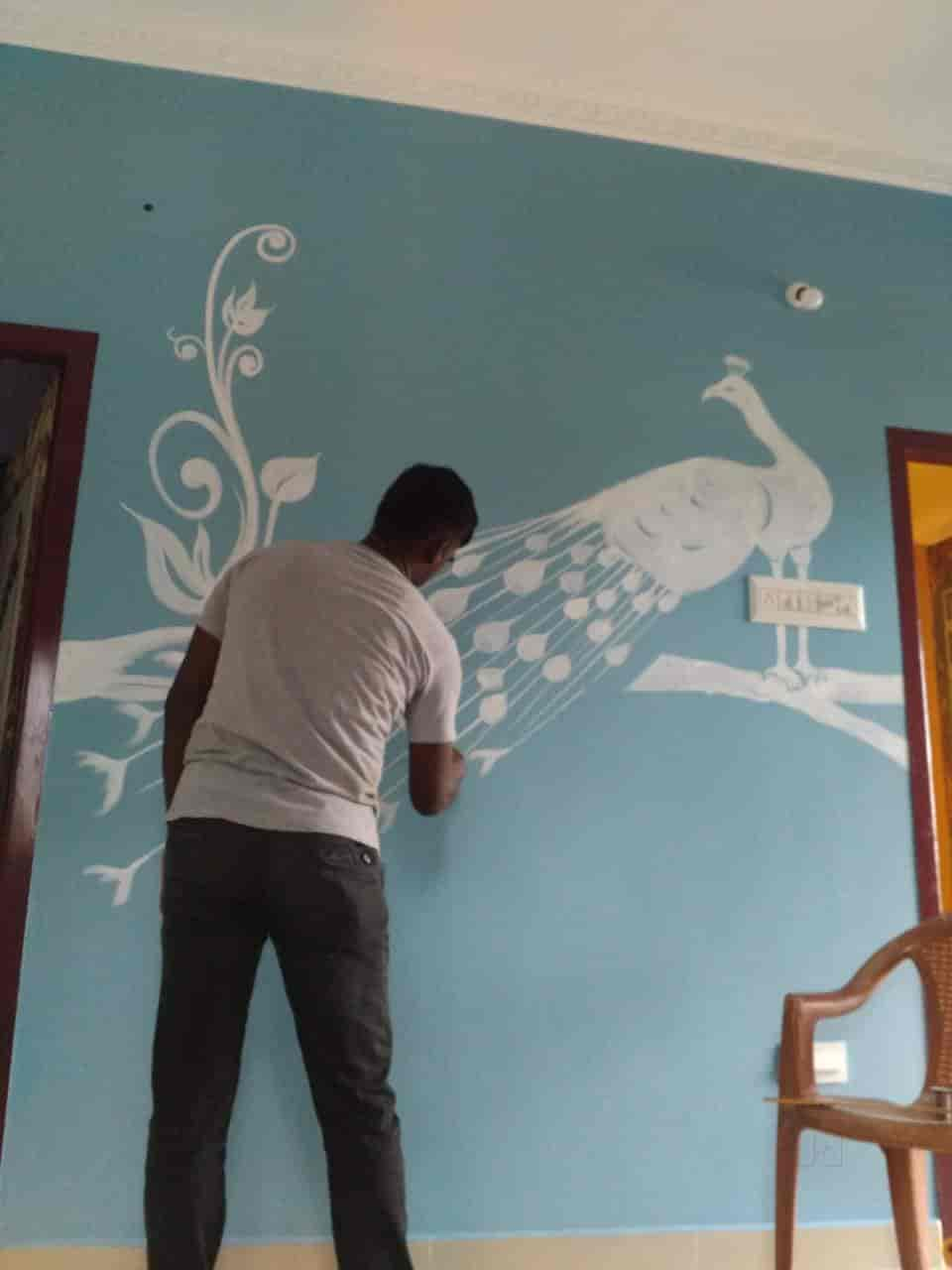 J S Wall Painting Designs With Modern Photos Mudichur Chennai