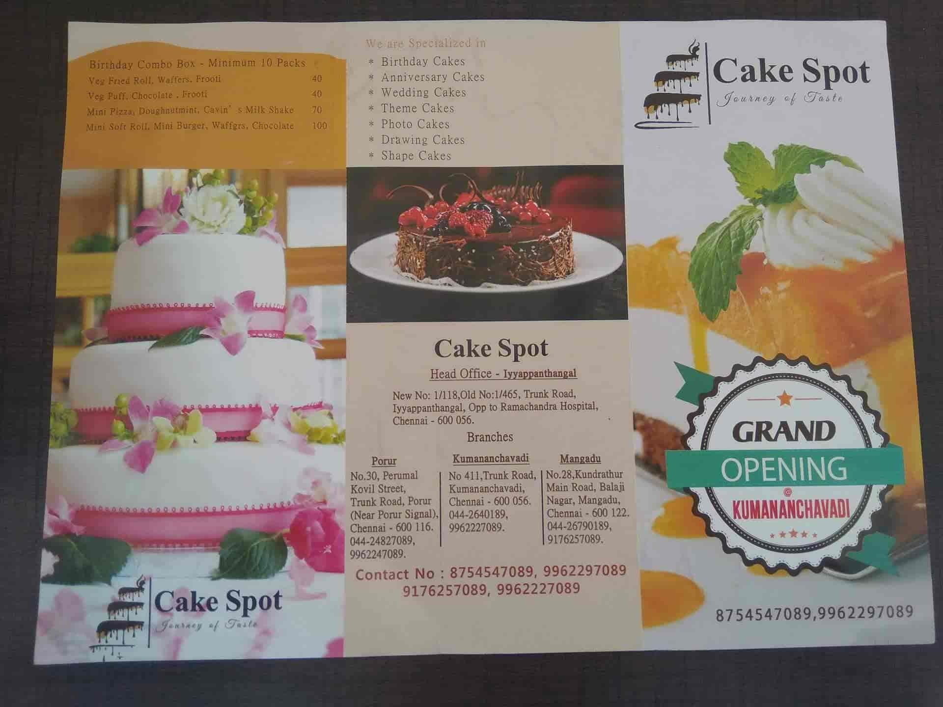 Cake Spot, Mangadu, Chennai - Bakeries Cuisine Restaurant - Justdial