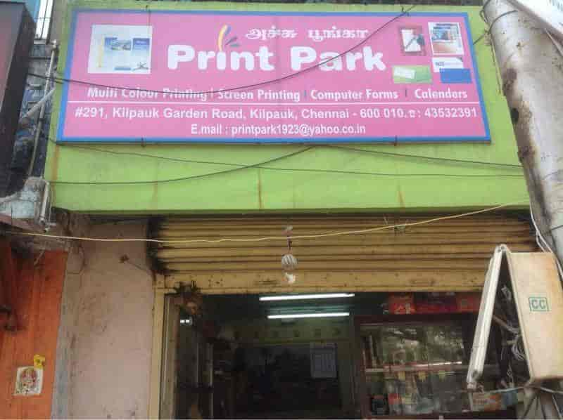 Print Park Kilpauk Printers For Visiting Card In Chennai Justdial