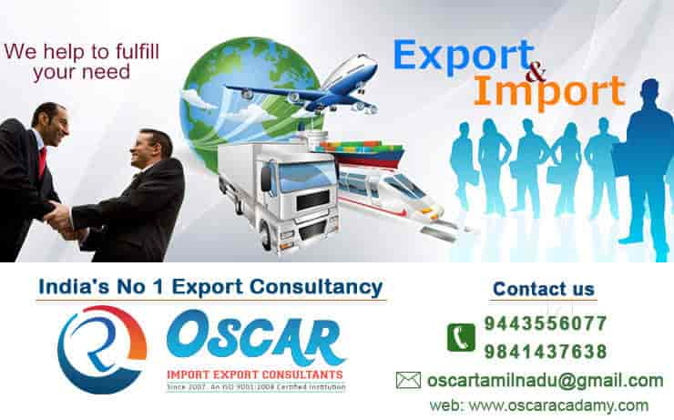Oscar Import Export Consultants, Perambur - Food Safety License
