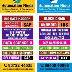 Automation Minds Software Training Institute, Karapakkam
