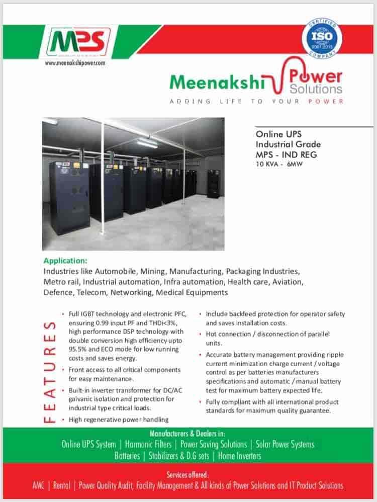Meenakshi Power Solutions, Mogappair - Inverter Dealers in