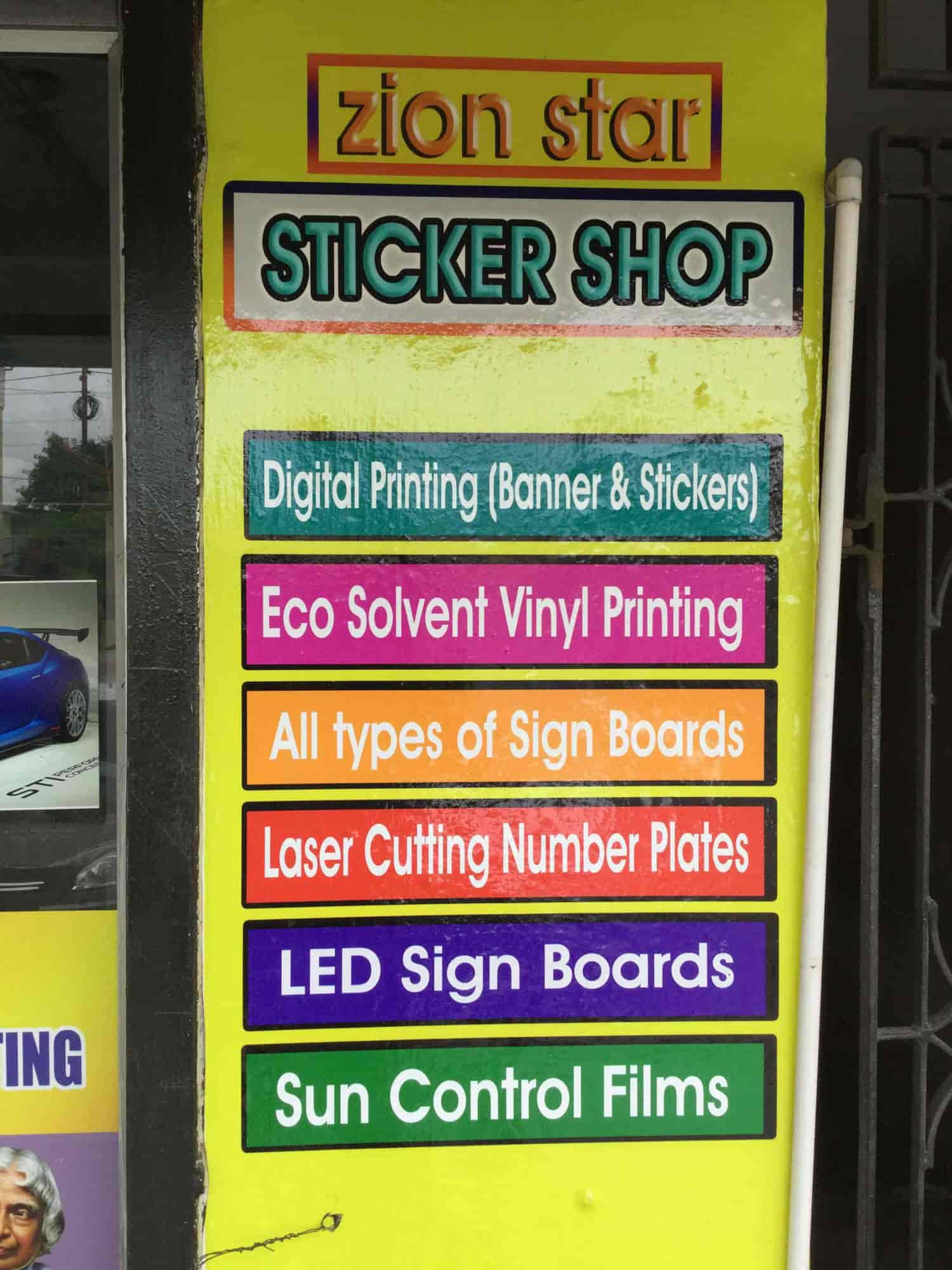 Zion star digitalprinting and stickers tambaram west building contractors in chennai justdial