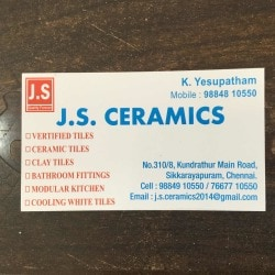 Js Ceramics, Kundrathur - Tile Dealers in Chennai - Justdial