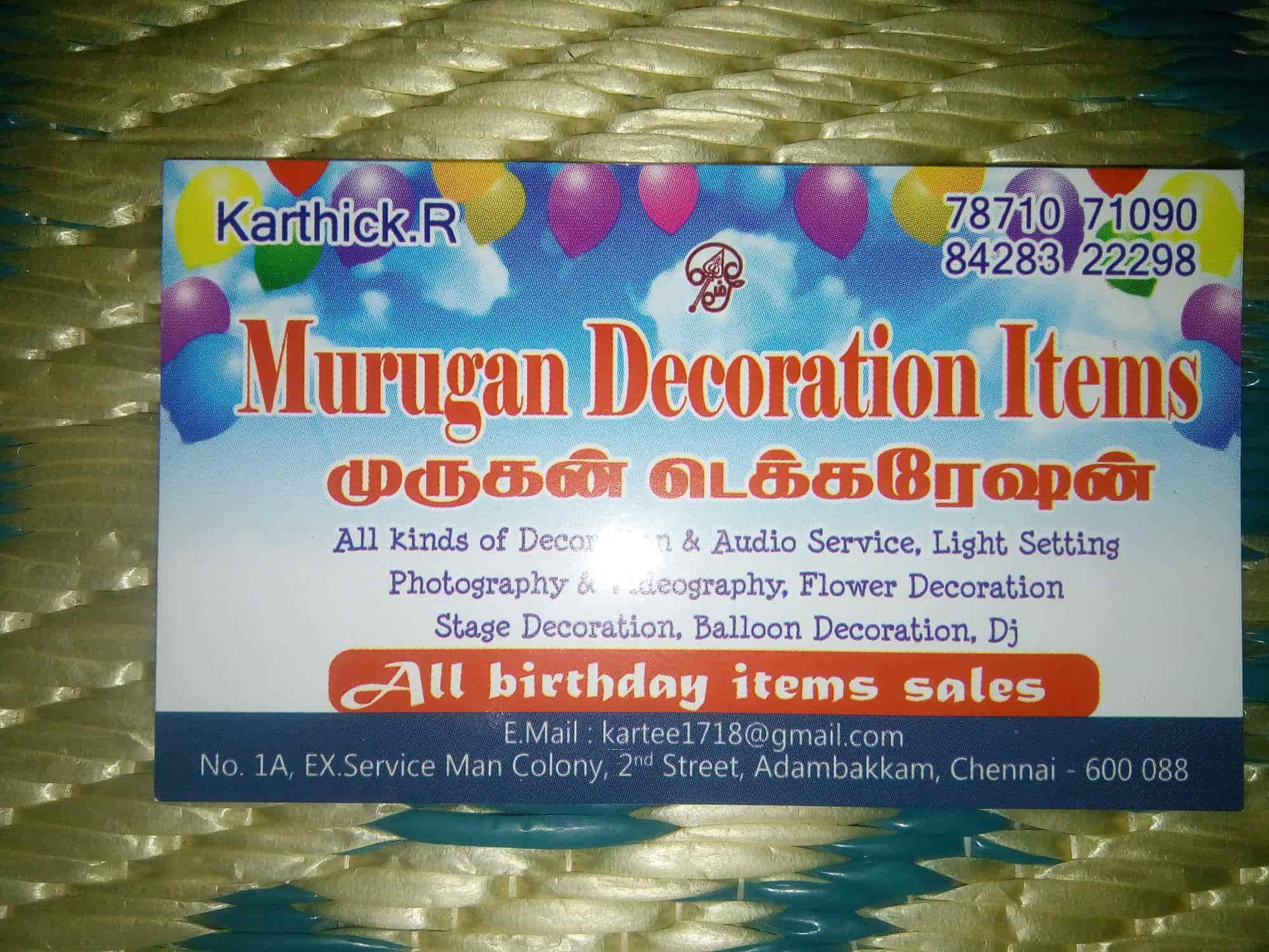 Murugan Decoration Items, Adambakkam - Flower Decorators in Chennai