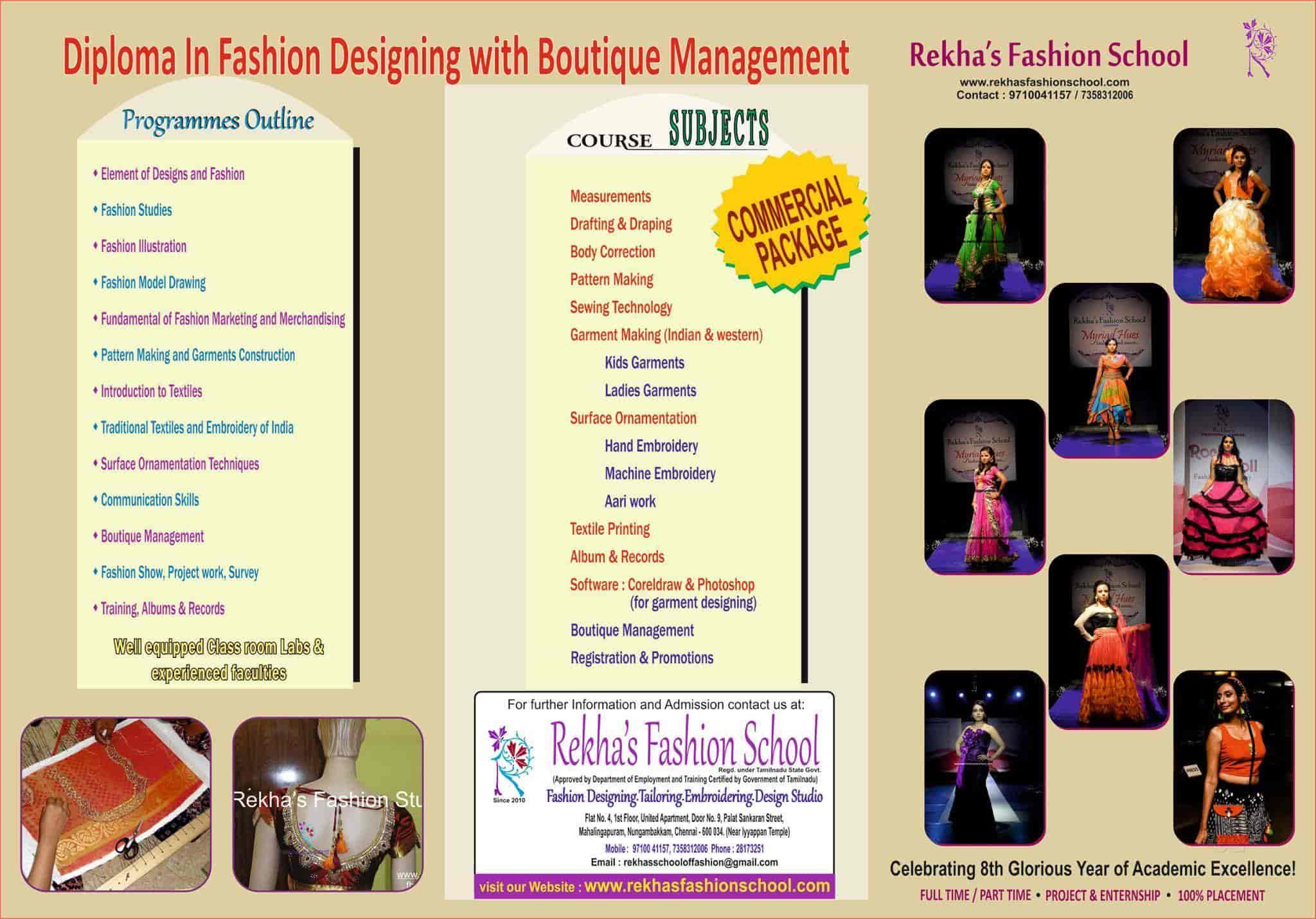 Rekhas Fashion School T Nagar Tailoring Classes In Chennai Justdial