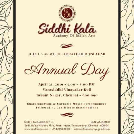 Siddhi Kala Academy Of Indian Arts, Thiruvanmiyur - Music Classes in