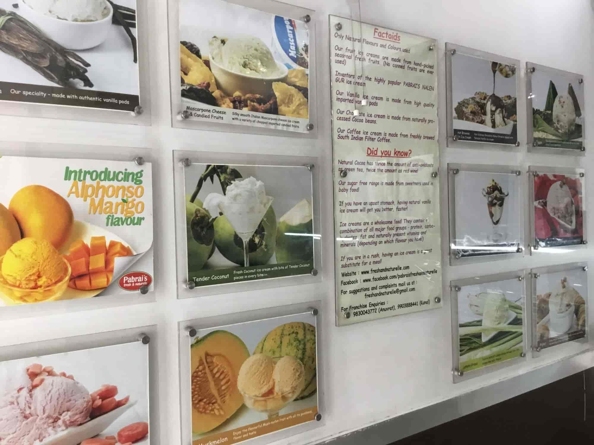 Pabrai's Fresh & Naturelle Ice Creams, Ashok Nagar, Chennai