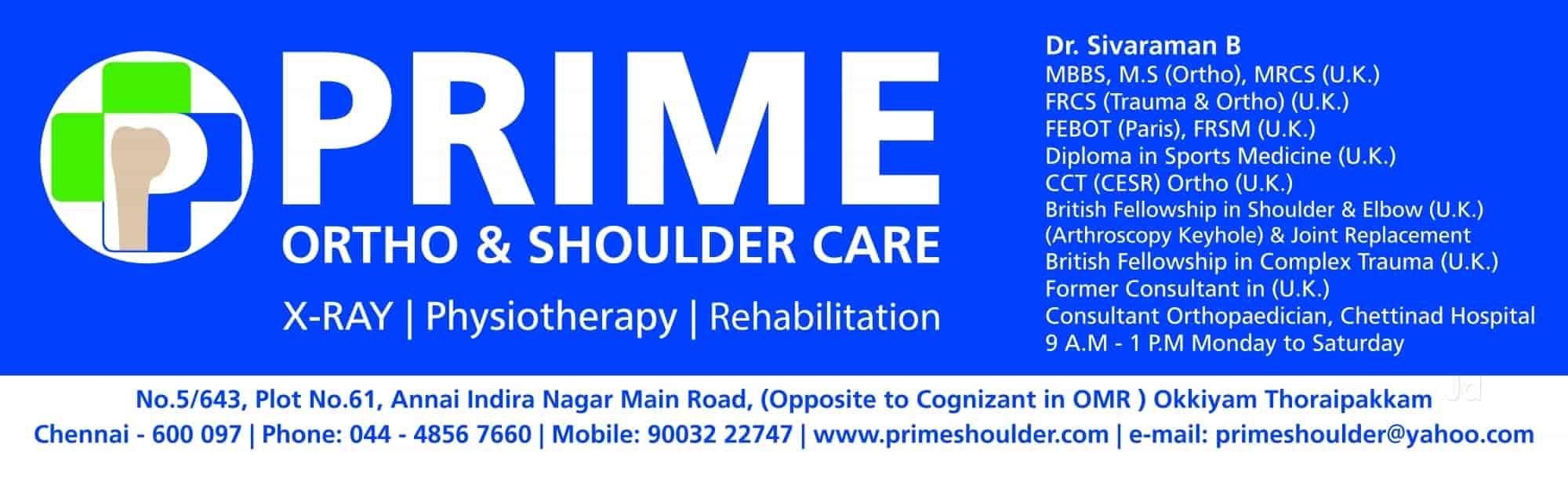 Prime Ortho & Shoulder Care - Hospitals - Book Appointment Online
