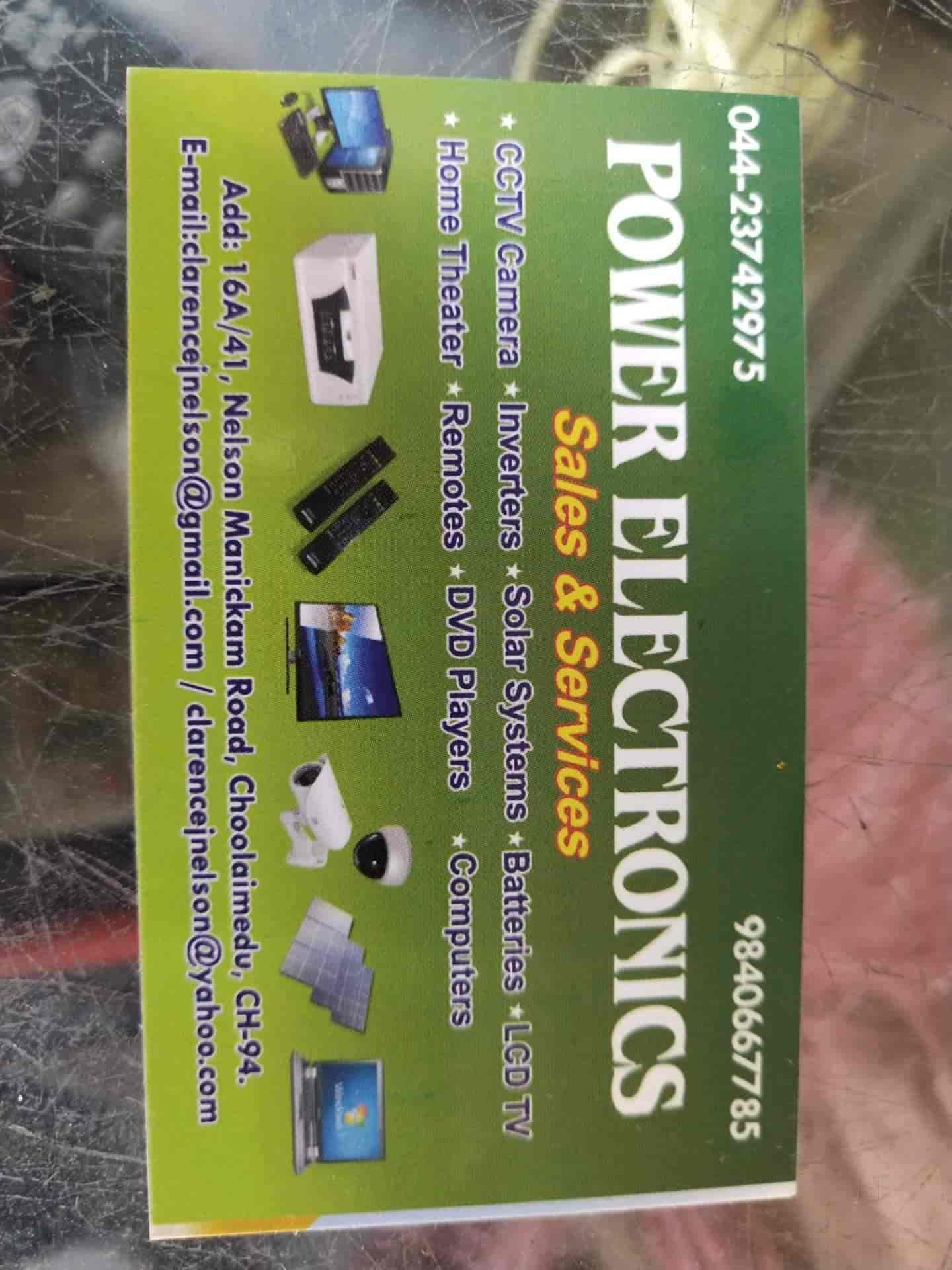 Power Electronics, Choolaimedu - Electrical Goods Repair