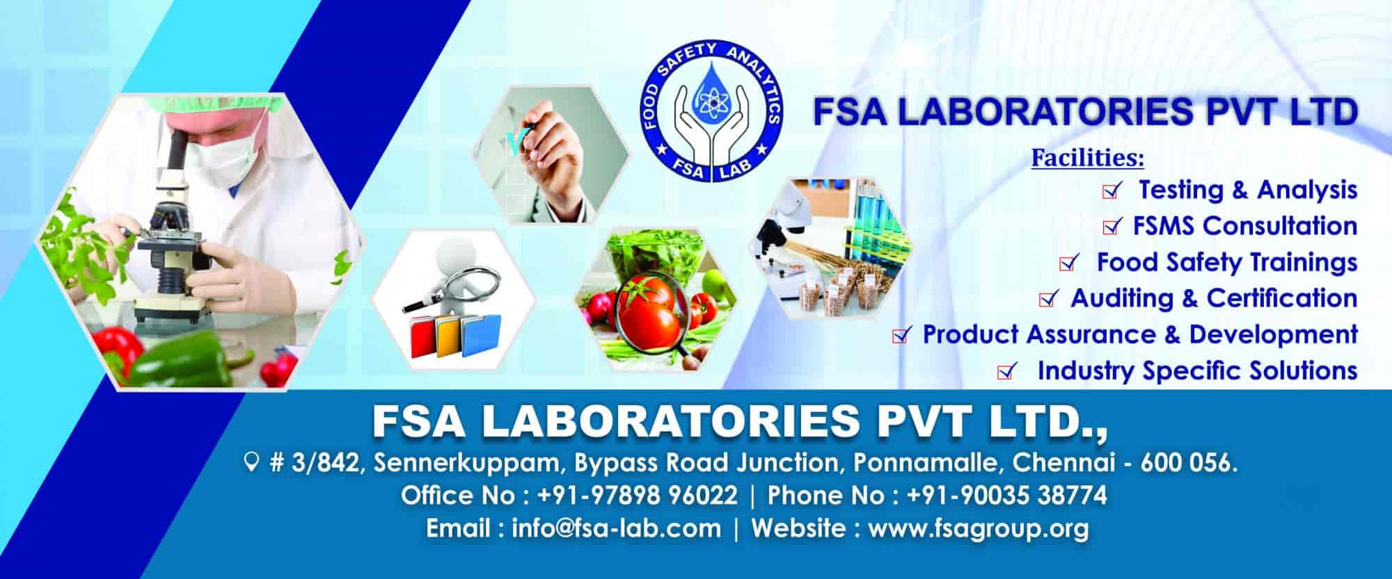 Fsa Laboratories Pvt Ltd Photos Poonamallee Chennai Pictures