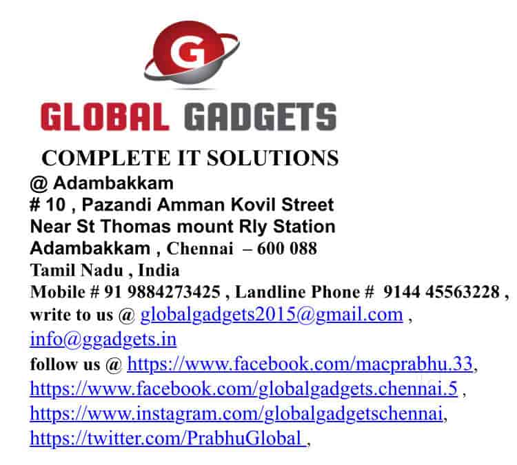 Global Gadgets Photos, Adambakkam, Chennai- Pictures & Images