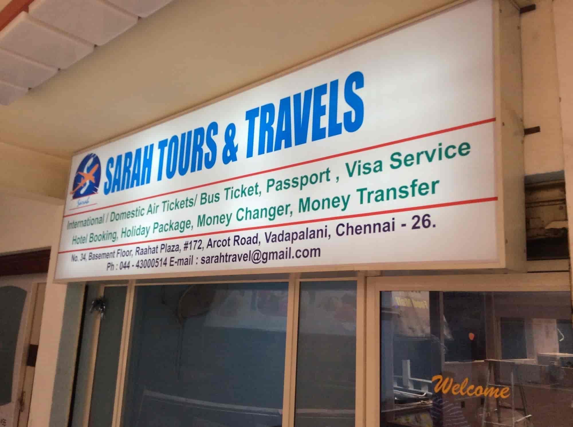Sarah Tours & Travels, Vadapalani - Travel Agents in Chennai