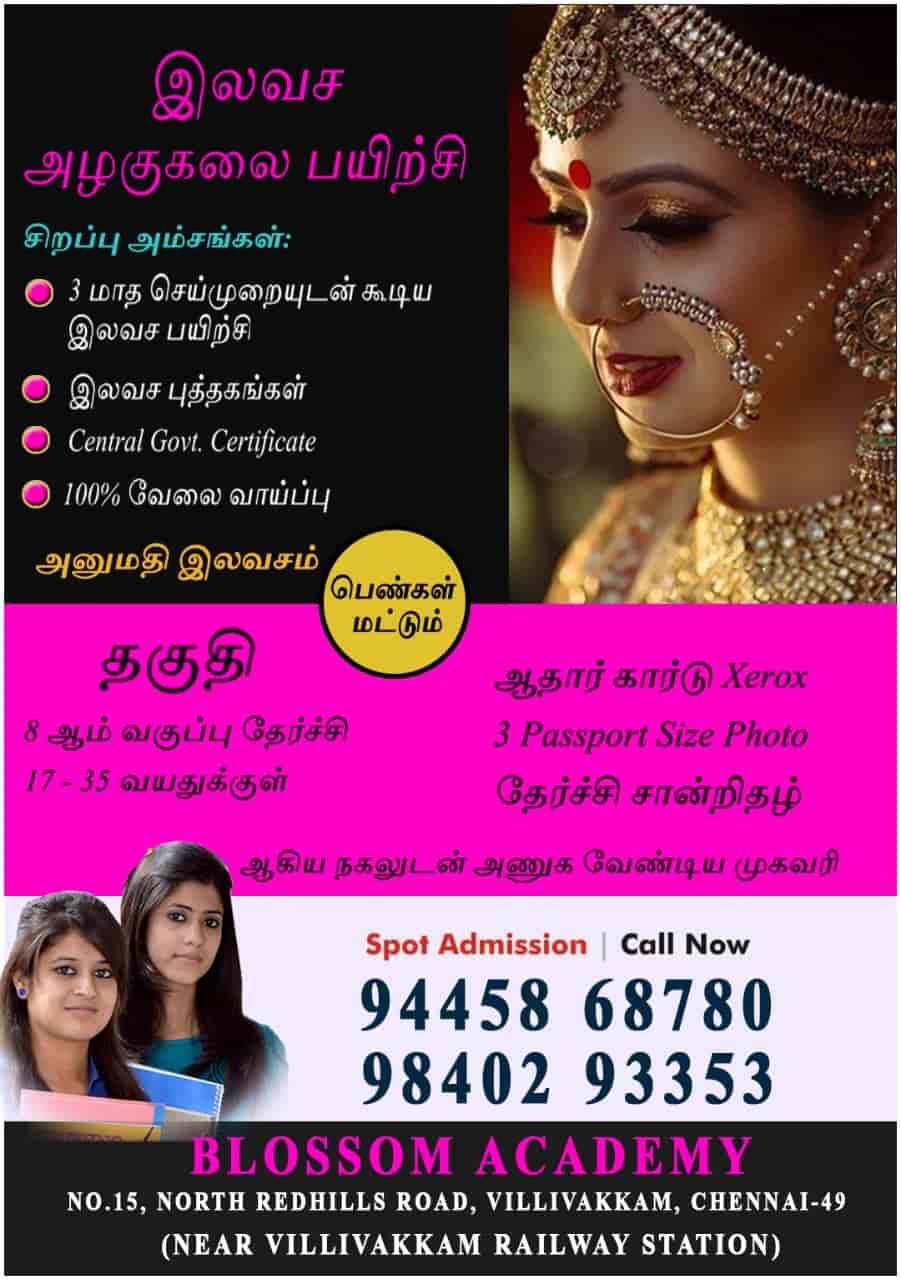 Blossom Beauty Training Academy, Villivakkam - Beautician Institutes