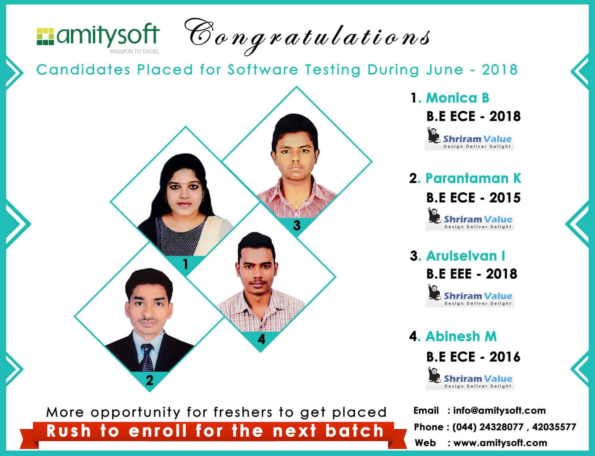 Amitysoft Technologies Pvt Ltd, T Nagar - Software Testing