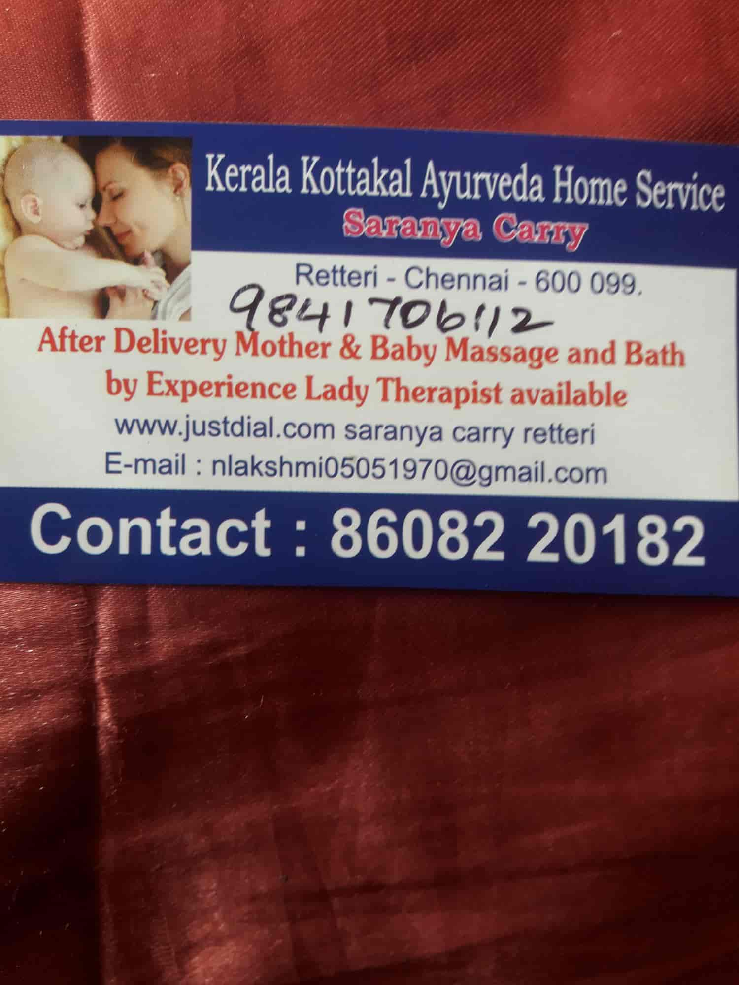 Saranya Carry, Retteri - Body Massage Services For Baby in
