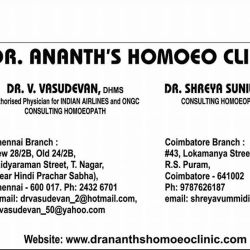 Dr  Ananth's Homoeo Clinic - Homeopathic Clinics - Book