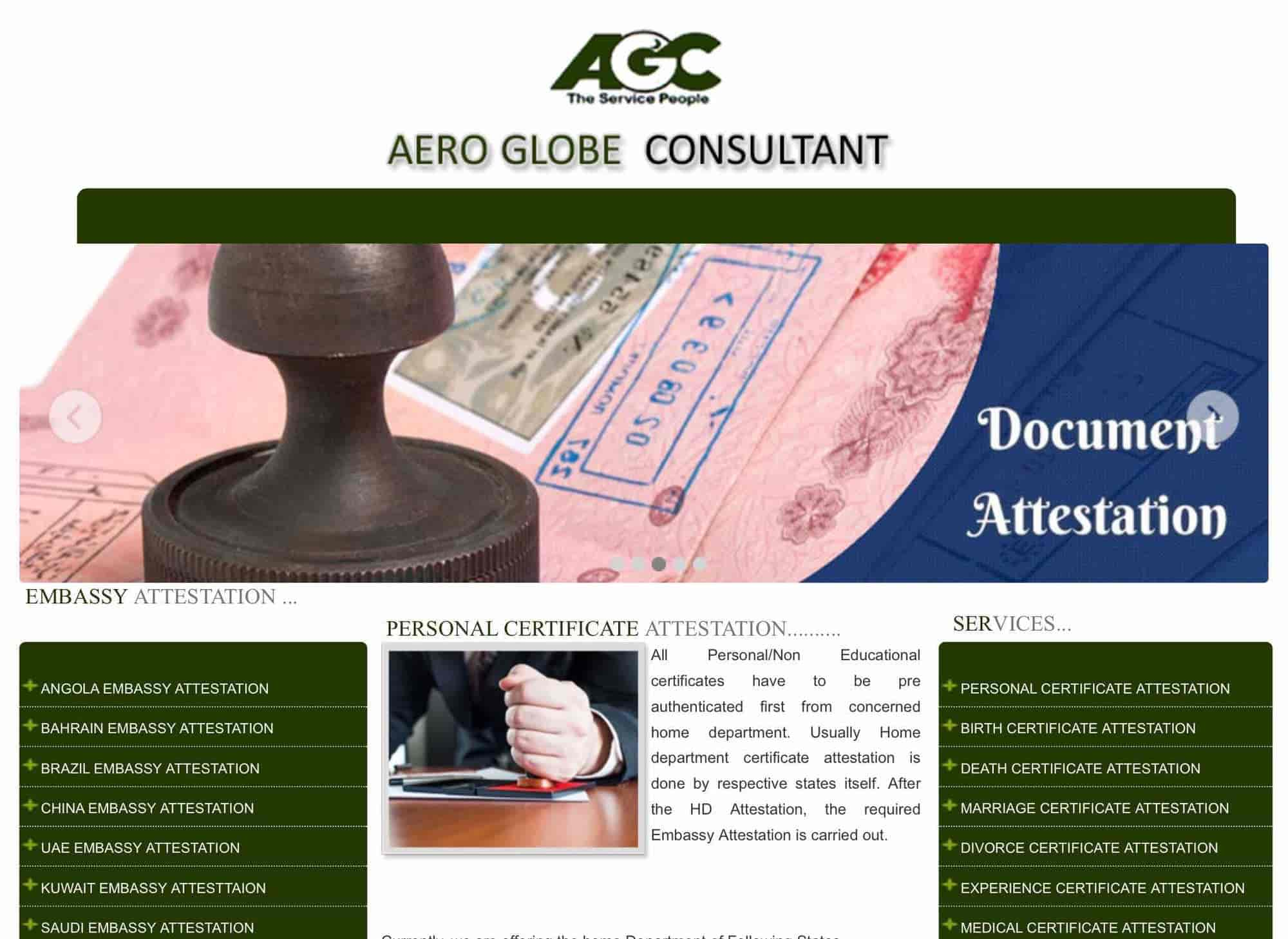 Aero Globe Travels, Mount Road - Attestation Services in