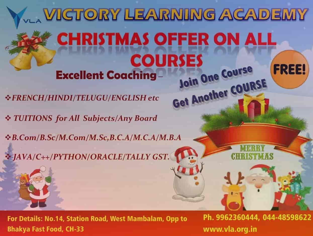 Victory Learning Academy, West Mambalam - Tutorials For C