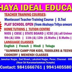 Akshaya Ideal Education, Porur - Hindi Tutorials in Chennai - Justdial