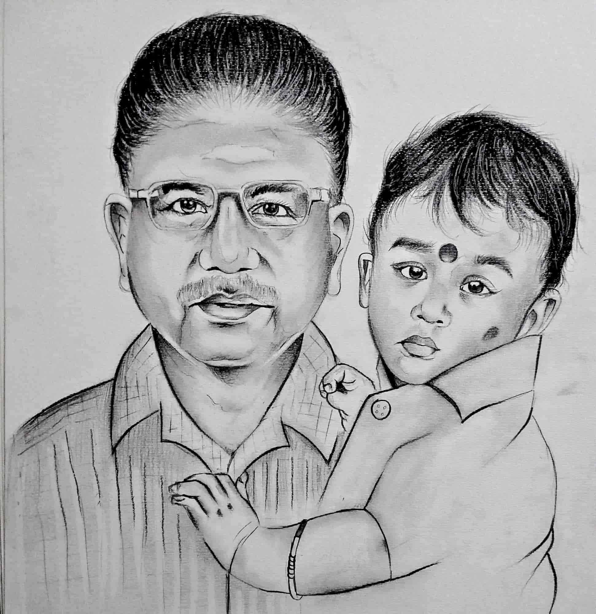 Pencil sketch sasis art studio photos ashok nagar chennai drawing job work