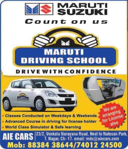 Maruti Driving School, T Nagar - Motor Training Schools in