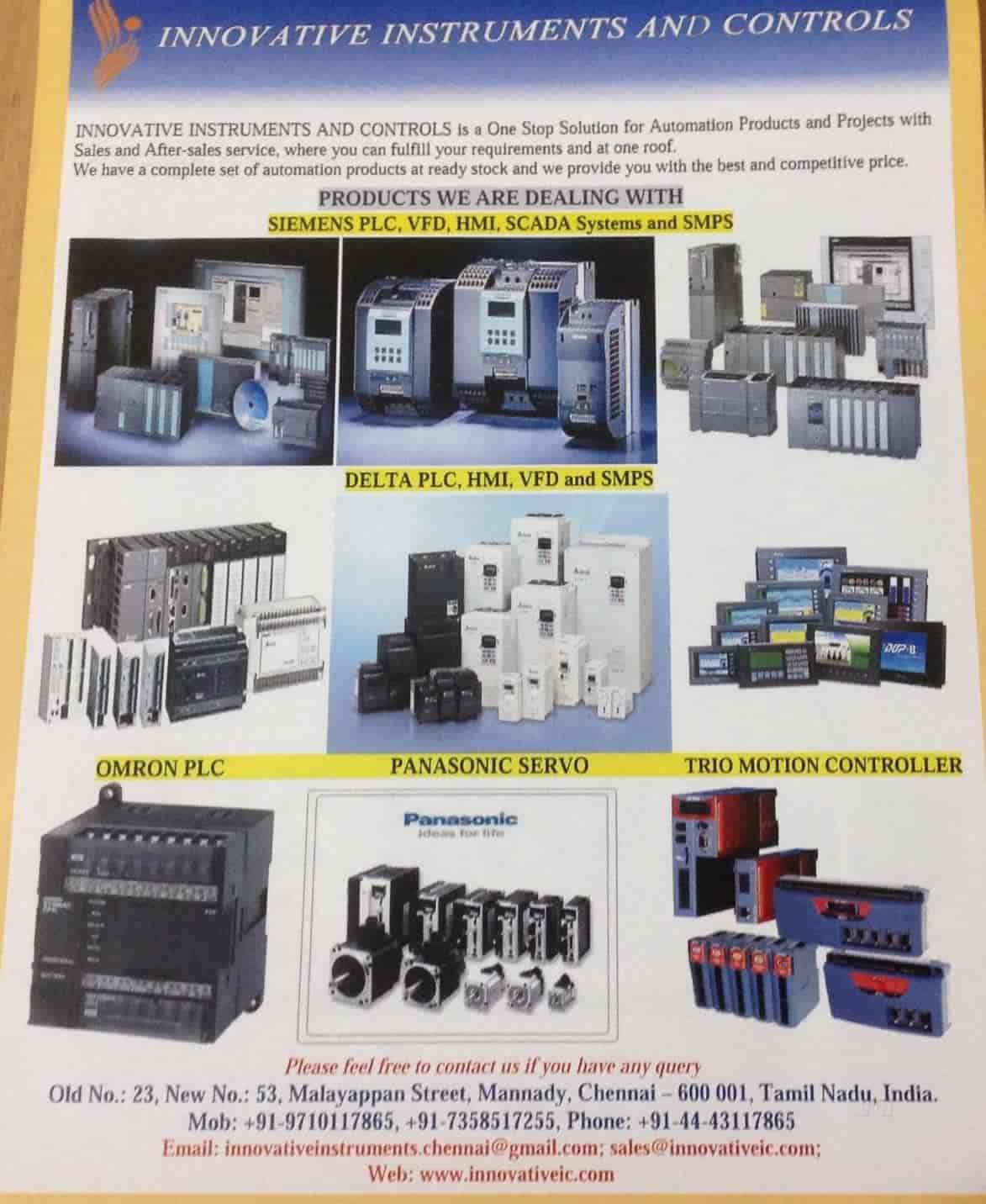 Innovative Instruments And Controls, Guindy - Automation