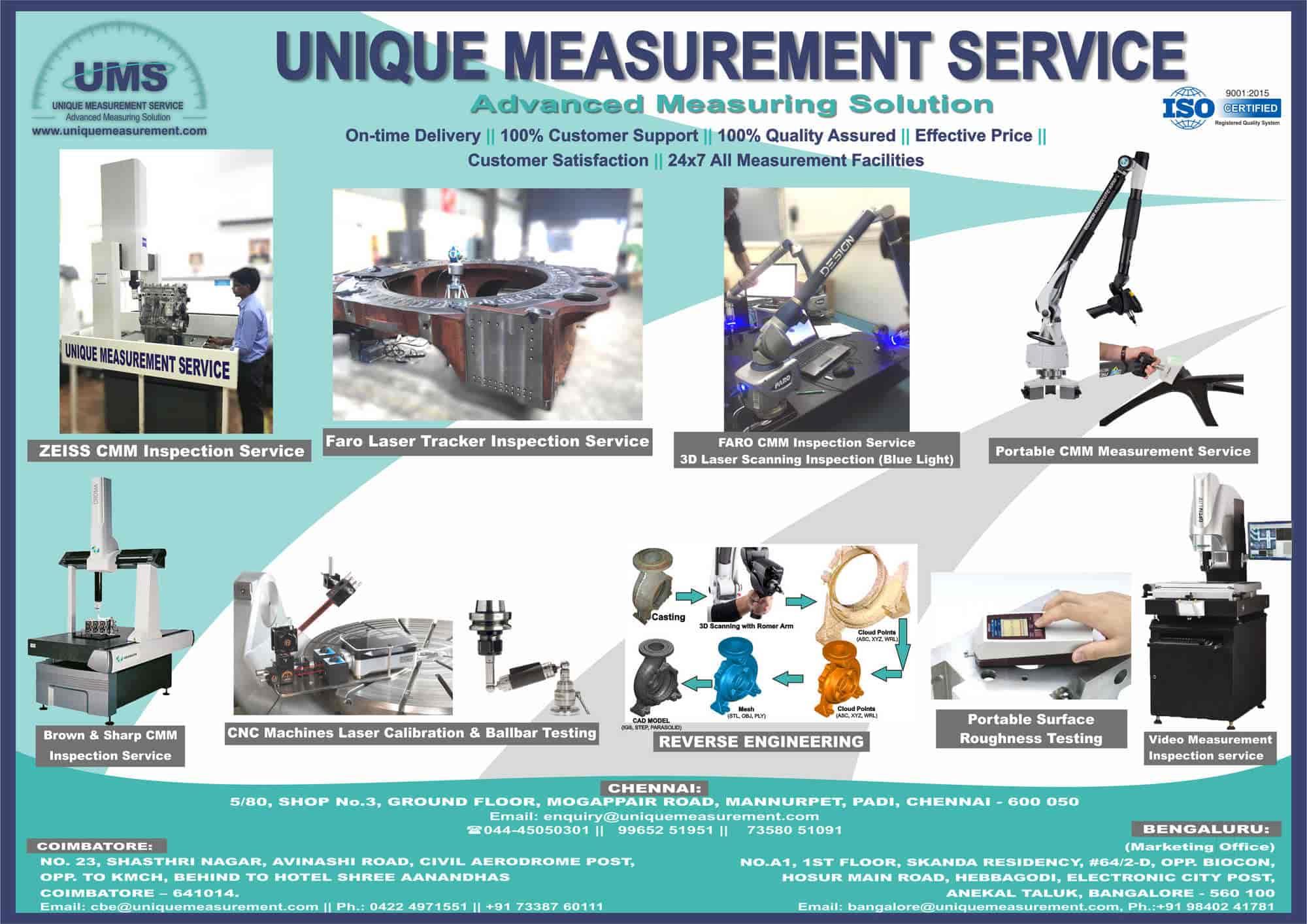 Unique Measurement Service, Padi - Cmm Inspection Services in