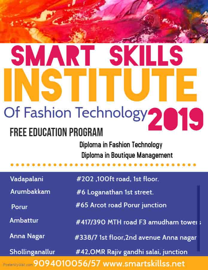 Smart Skills Institute Of Fashion Technology Anna Nagar West Tailoring Classes In Chennai Justdial
