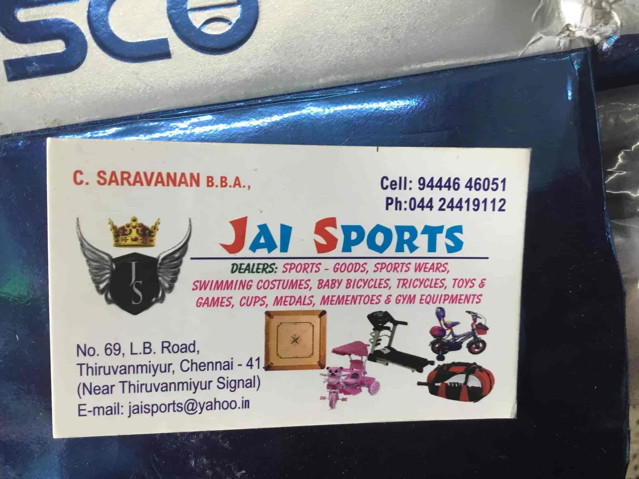 Jai sports thiruvanmiyur jay sports sports goods dealers in jai sports thiruvanmiyur jay sports sports goods dealers in chennai justdial solutioingenieria Choice Image