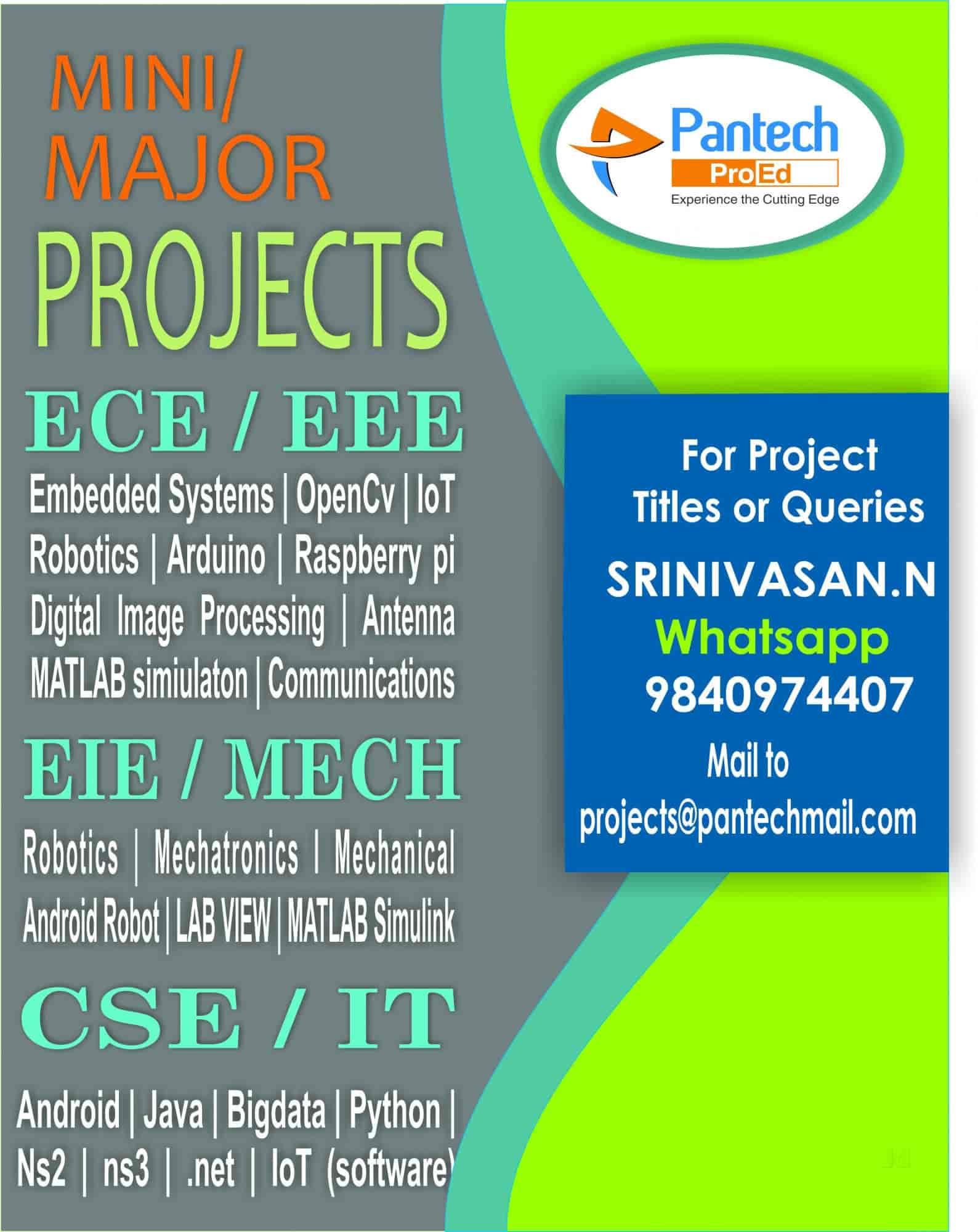 Pantech Proed Pvt Ltd, T Nagar - Computer Project Work in Chennai