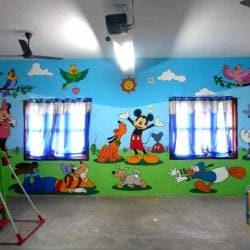 Pre School Class Room Wall Mural Paintings Chidambaram Ho