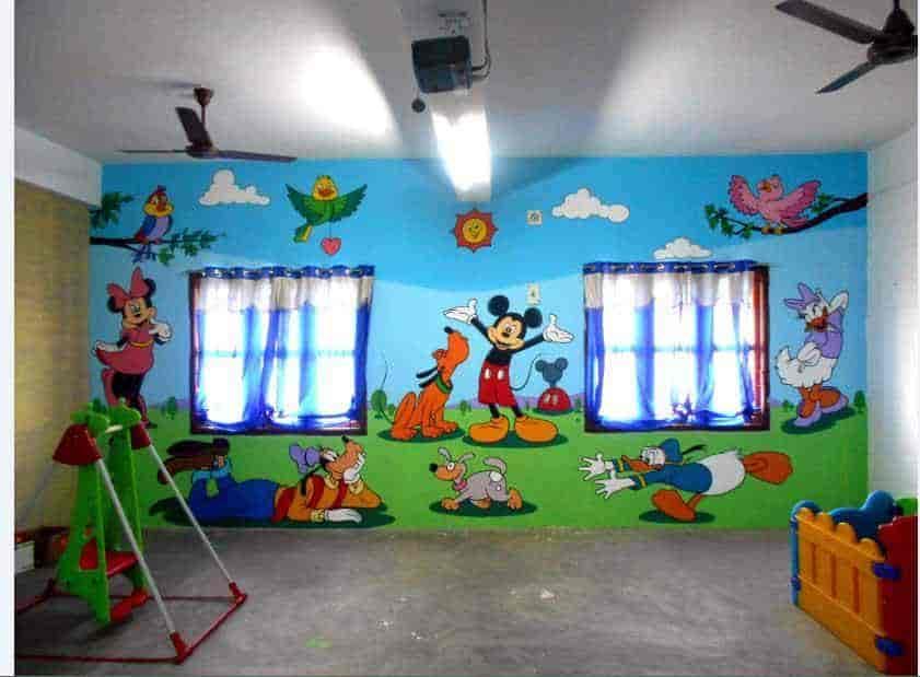 Pre School Class Room Wall Mural Paintings Photos Chidambaram
