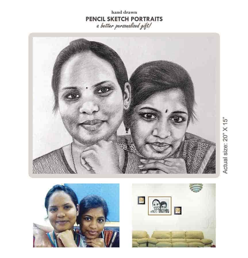 Pencil sketch drawing sketch u photos ganapathy coimbatore portrait artists