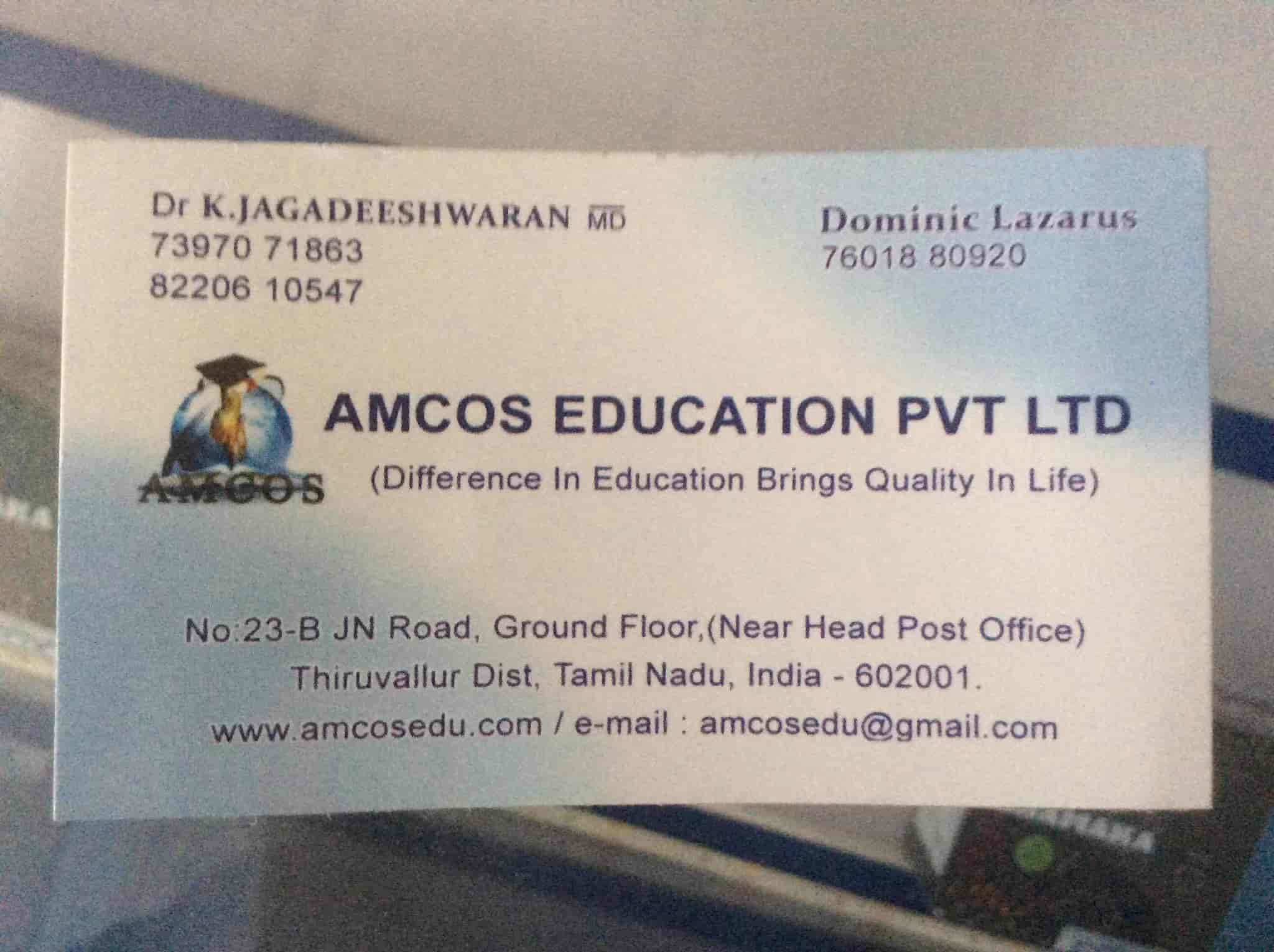 Amcos Education Pvt Ltd in Hopes, Coimbatore - Justdial