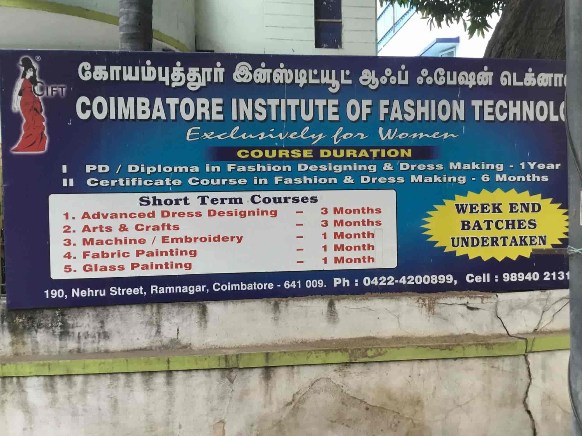 Coimbatore Insti Ram Nagar Fashion Designing Institutes In Coimbatore Justdial