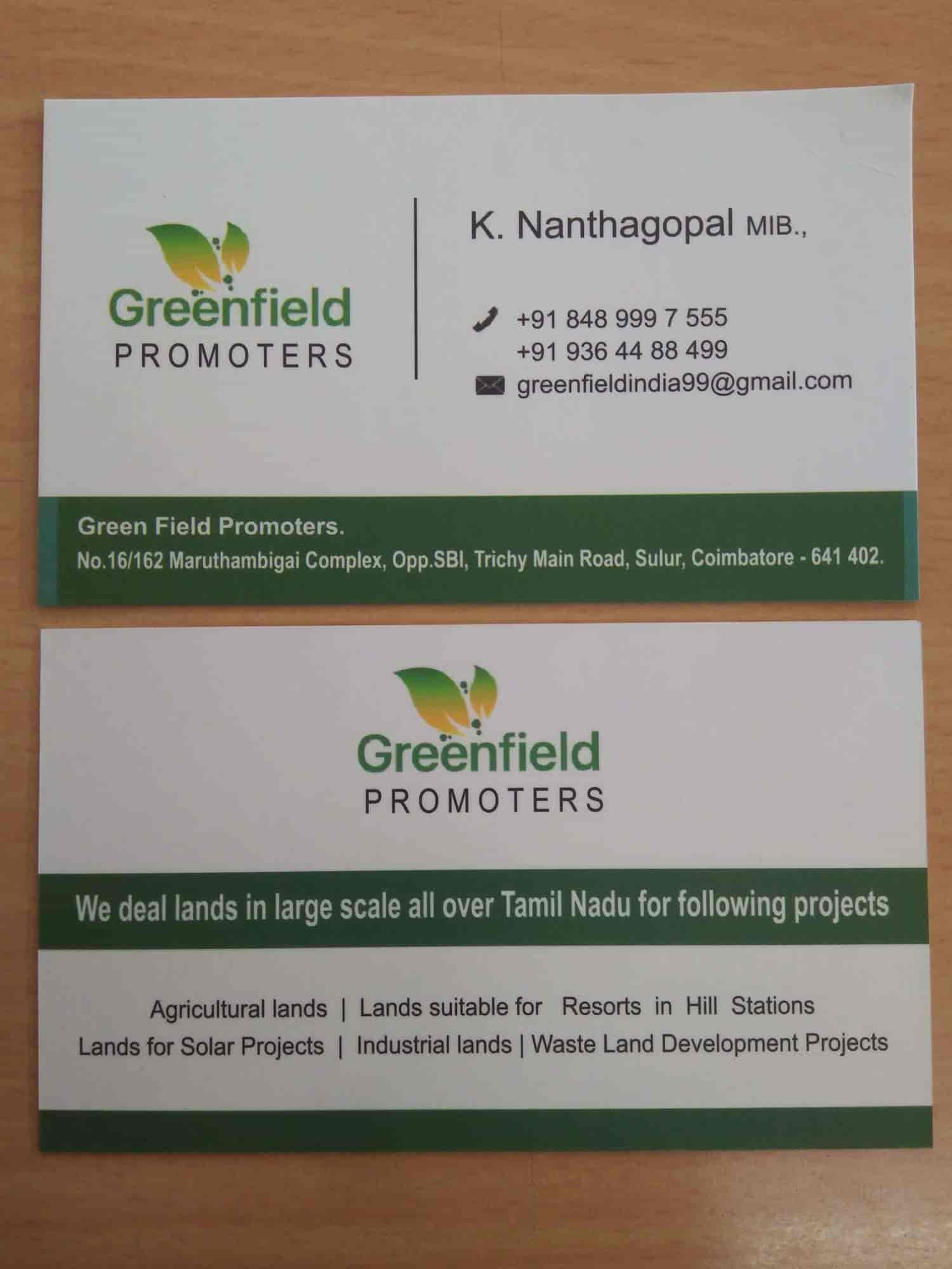 GREEN FIELD Promoters Photos, Sulur, Coimbatore- Pictures & Images ...