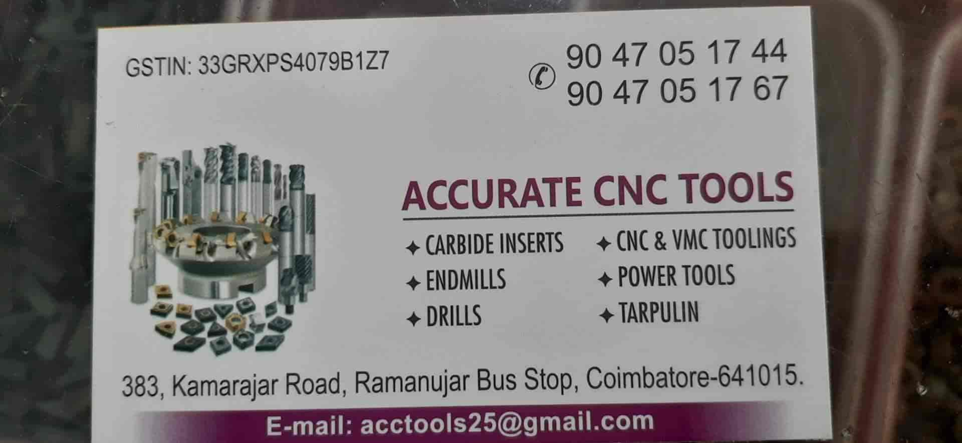 Accurate Cnc Tools, Uppilipalayam - CNC Tool Dealers in