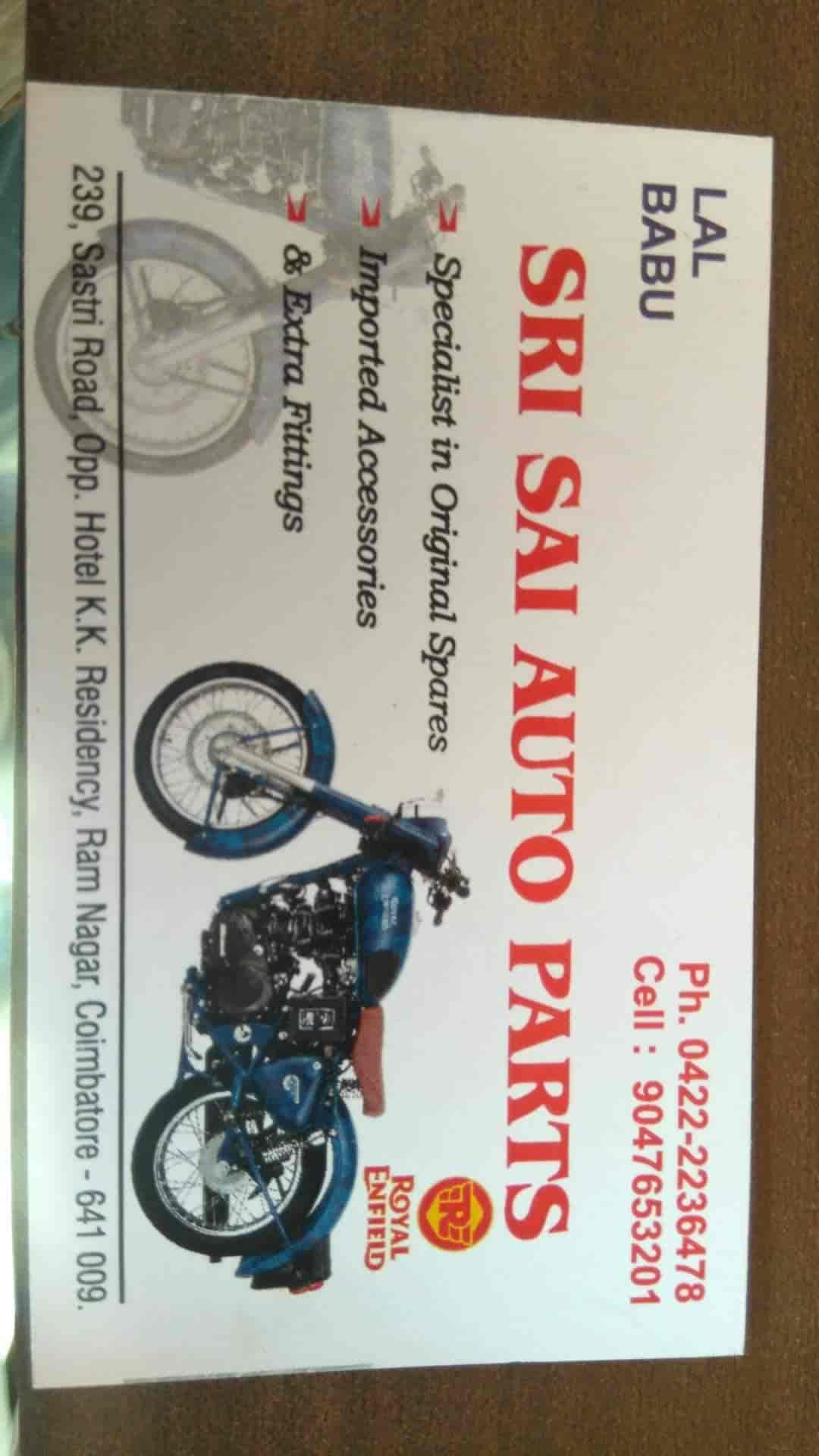 Sai Auto Parts, Gandhipuram - Motorcycle Part Dealers in Coimbatore