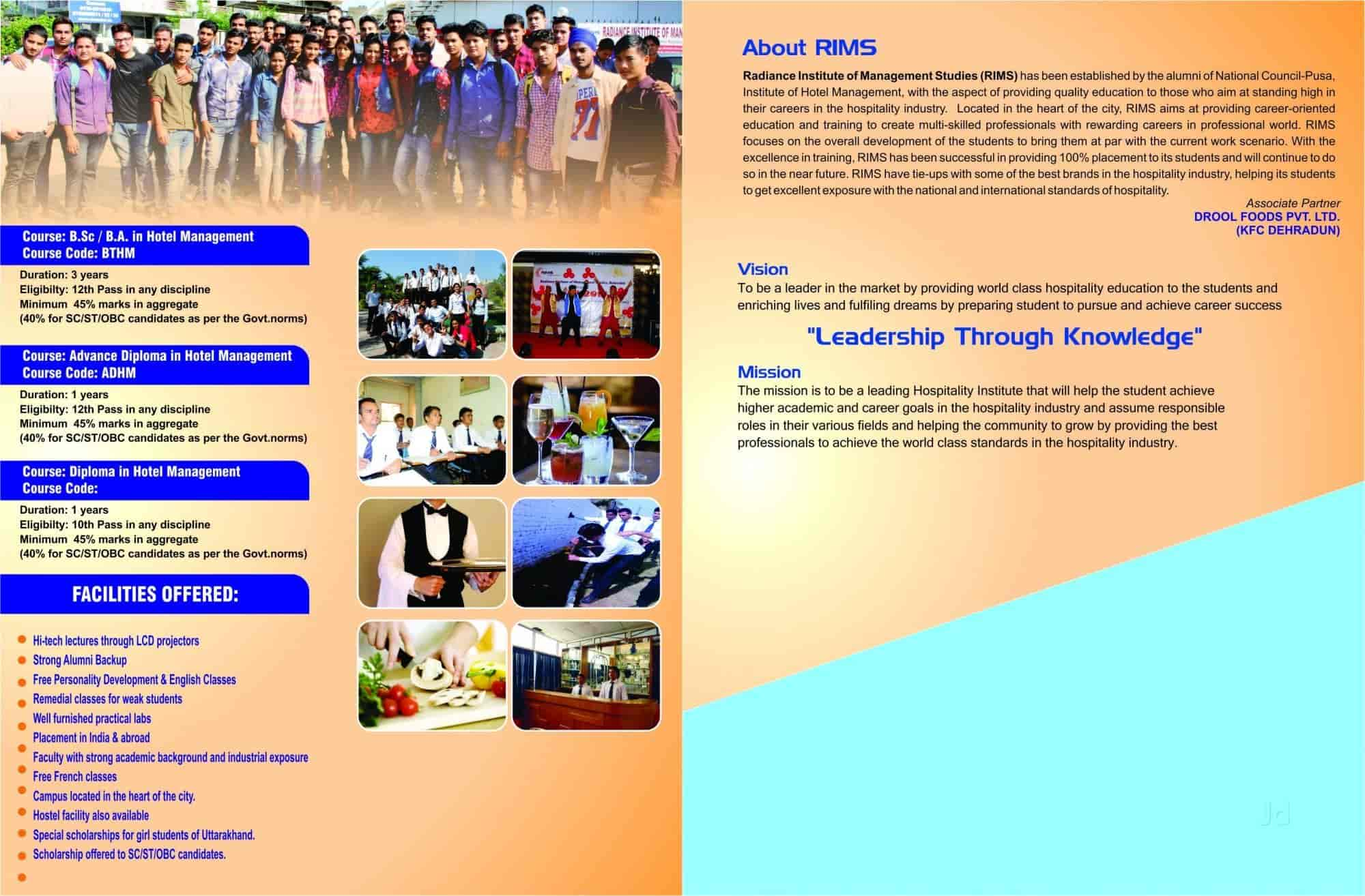 Radiance Institute Of Management Studies Dehradun City Institutes
